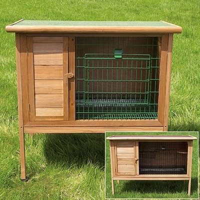 Rabbit small animal cages superpet hexagon hutch outdoor for Super pet hutch