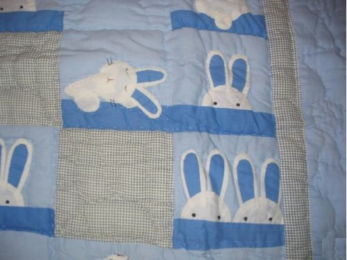 BUNNYRABBIT.com HOME DECOR Afghan, rabbit blanket, rabbit afghan