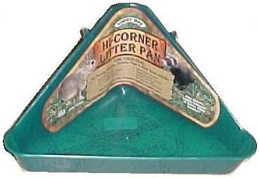 corner litter box