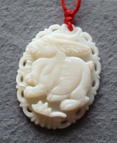 Rabbit pendant bunny pendant rabbit jade bunny jade jade rabbit shell rabbit ornateedgeg 46303 bytes aloadofball Images